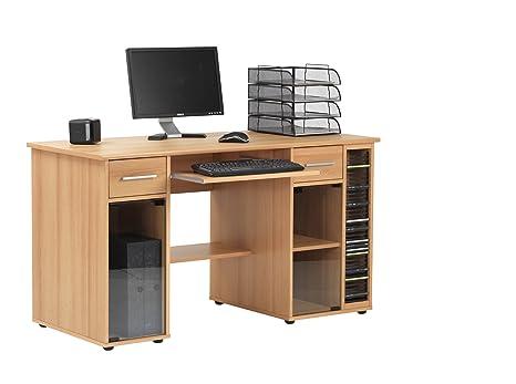 SAN JOSE HOME OFFICE COMPUTER DESK IN BEECH FINISH