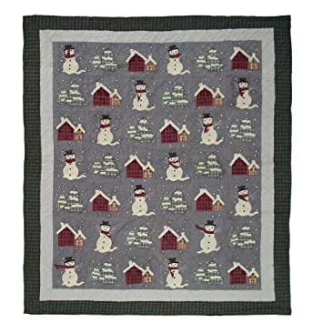 """Snowman Quilt Twin 65""""X 85"""" QTSNMN by Patch Magic"""