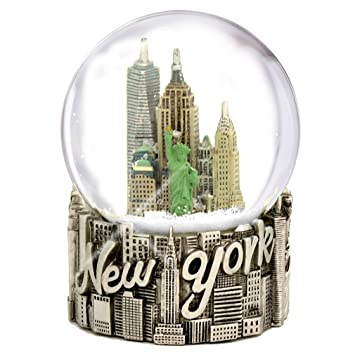 New York City Classic Silver Exclusive Snow Globe - 65mm: : Home & Kitchen