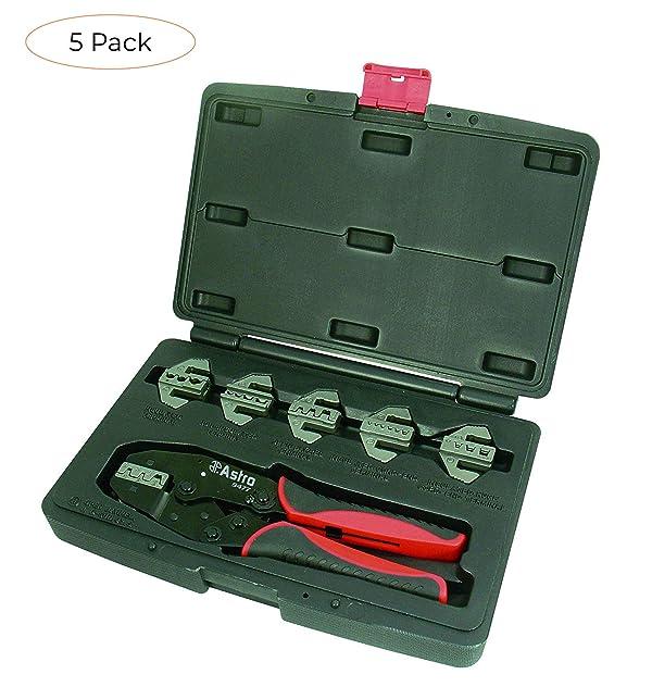 Astro Pneumatic Tool 9477 7-Piece Professional Quick Interchangeable Ratchet Crimping Tool Set (Fiv? ???k) (Tamaño: Fiv? ???k)