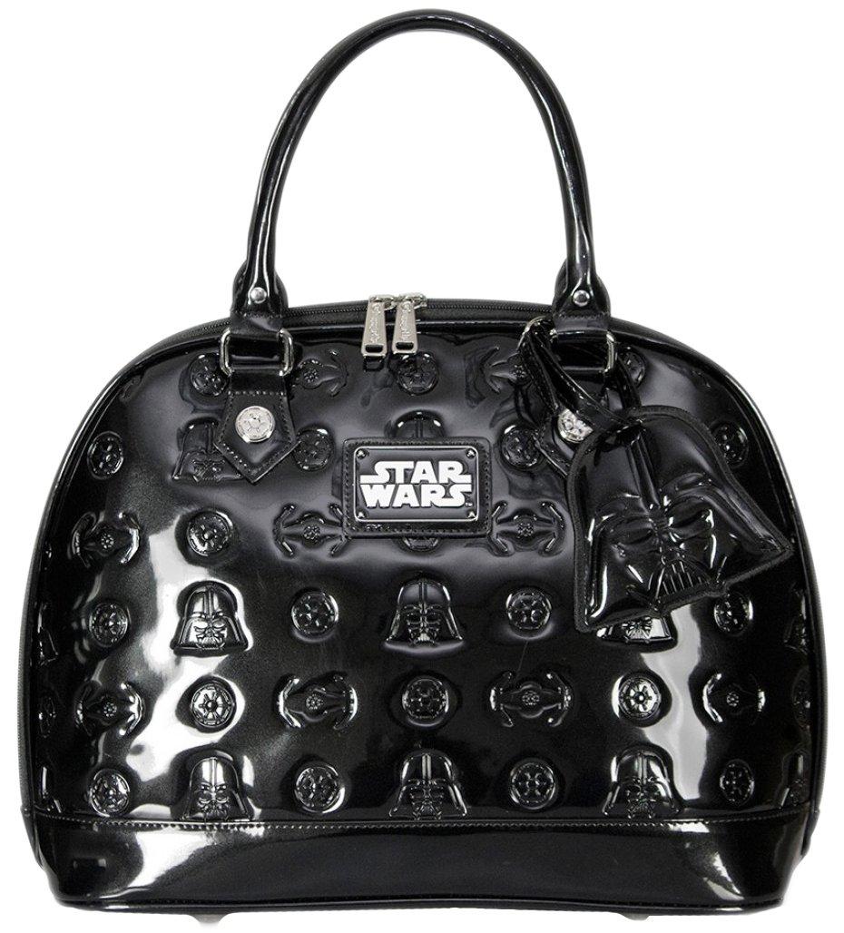 Star Wars Darth Vader Darkside Black Patent Embossed Dome Bag