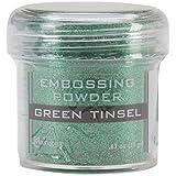 Ranger Embossing Powder, 1-Ounce Jar, Green Tinsel (Color: Green Tinsel, Tamaño: 1 oz)