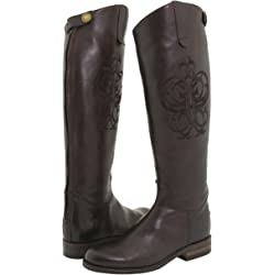 Frye Riding Back Zip Knee-High Women's Boot (Dark Brown Leather)