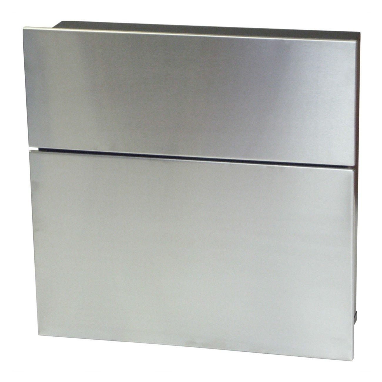 SafePost 122 Briefkasten schwarz mit Edelstahlfront 39,5 x 40 cm  BaumarktKundenbewertung und Beschreibung