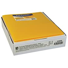 C-Line Two-Pocket Heavyweight Poly Portfolio, For Letter Size Papers, Includes Business Card Slot, 1 Case of 25 Portfolios, Yellow (33956)