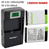 Kastar BL-5C Battery 2-Pack and intelligent mini travel Charger for Shortwave All Hazard Radio, V-115 Portable Shortwave Transistor Radio AM/FM Stereo, Meloson Enhanced Portable AM FM Weather Radio (Color: COMBO: 2 BATTERIES + 1 LCD TRAVEL CHARGER)
