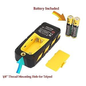 DMiotech Laser Distance Meter 196ft 60m Mini Handheld Digital Laser Distance Measure Rangefinder Measurer Tape with LCD Backlight Yellow (Tamaño: 196ft Yellow)