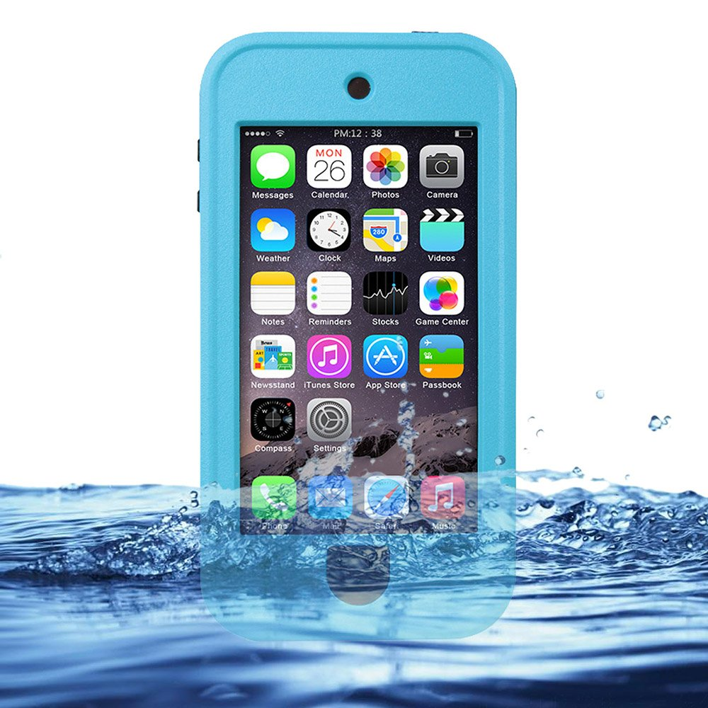 shockproof water resistant dust proof protective plastic back case cover case for iphone 6 4 7 Eazewell Durable Ultra Slim 100% Water Resistant Skin Waterproof Case Shockproof Crashproof Dustproof Ocean Proof Dirt Proof Snow Proof Sand Proof Hard Shell Protective Box Rugged Cover with Kickstand for Apple iPod Touch 5 5th