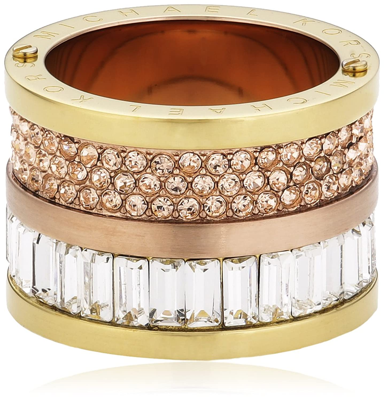 Michael Kors Damen-Ring Edelstahl Zirkonia mehrfarbig MKJ1907931 online kaufen