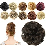 FESHFEN Synthetic Hair Bun Extensions Messy Hair Scrunchies Hair Pieces for Women Hair Donut Updo Ponytail (Color: A05- 6# Medium Brown, Tamaño: Normal)