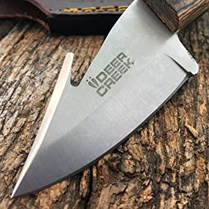 DEER CREEK FIXED BLADE GUT HOOK SKINNING KNIFE Hunting Bowie Skinner + Free eBook by SURVIVAL STEEL