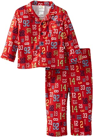 ABSORBA Baby-Boys Infant Footiball Pajama Set, Red Print, 12 Months
