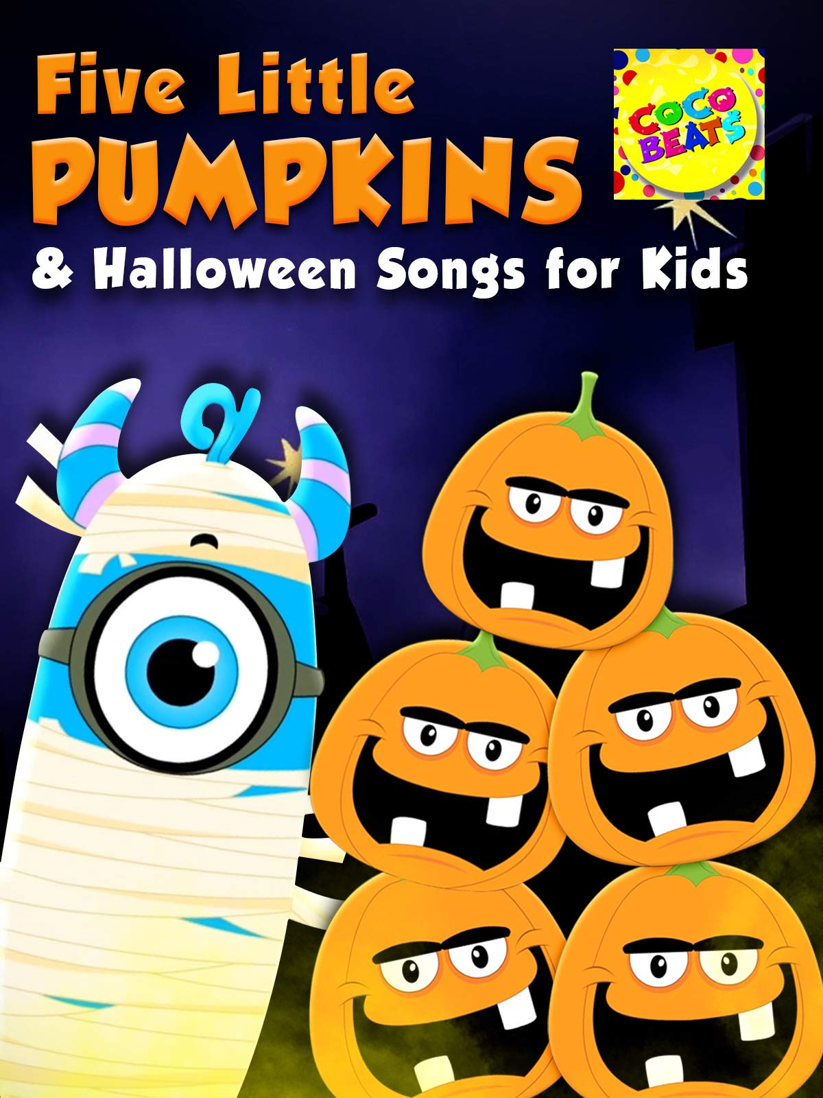 Five Little Pumpkins and Halloween Songs For Kids - Coco Beats