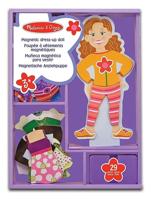 Melissa & Doug - 13552 - Poupée En Bois À Vêtements Magnétiques - Maggie