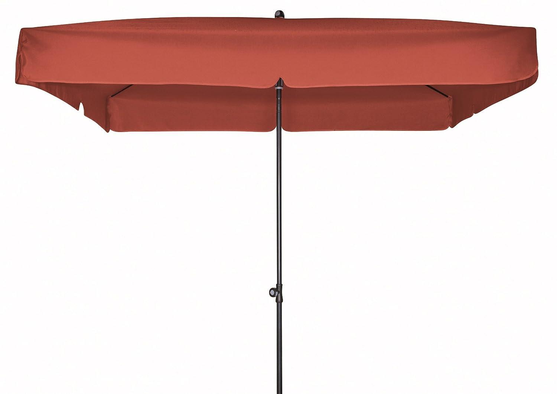 Doppler Gartenschirm Sun Line III 200×200 quadratisch mit UV-Schutz 50, Farbe terracotta günstig