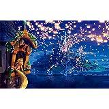 Cartoon Movie Photography Background Disney 7x5ft Glitter Light Island Castle Backdrops Tangled Princess Background Banner (Color: 2CR008, Tamaño: 7X5FT(210X150CM))