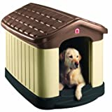 Pet Zone Step 2 Tuff-N-Rugged Dog House (Color: Brown, Tamaño: Large)