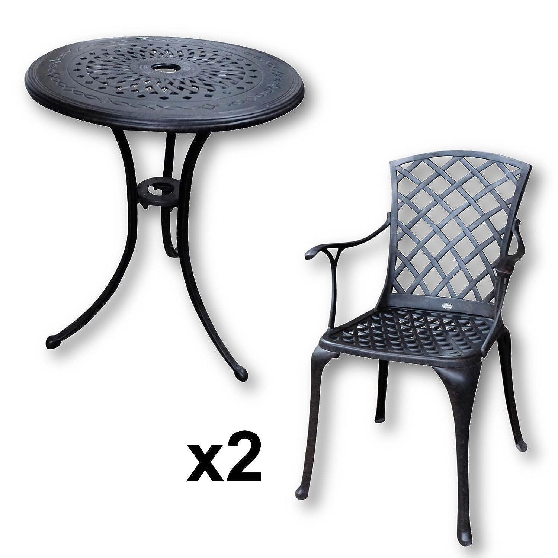 Ella 60cm Bistrotisch – 1 Ella Tisch + 2 ROSE Stühle günstig online kaufen