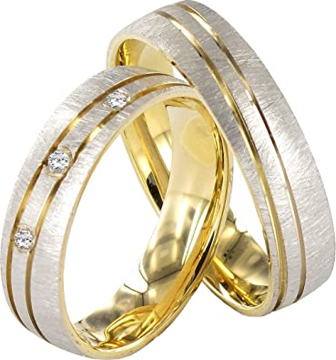 JC 2 Hearts Collection 333 Wedding Wedding Rings 8 Carat Yellow & White Gold J123