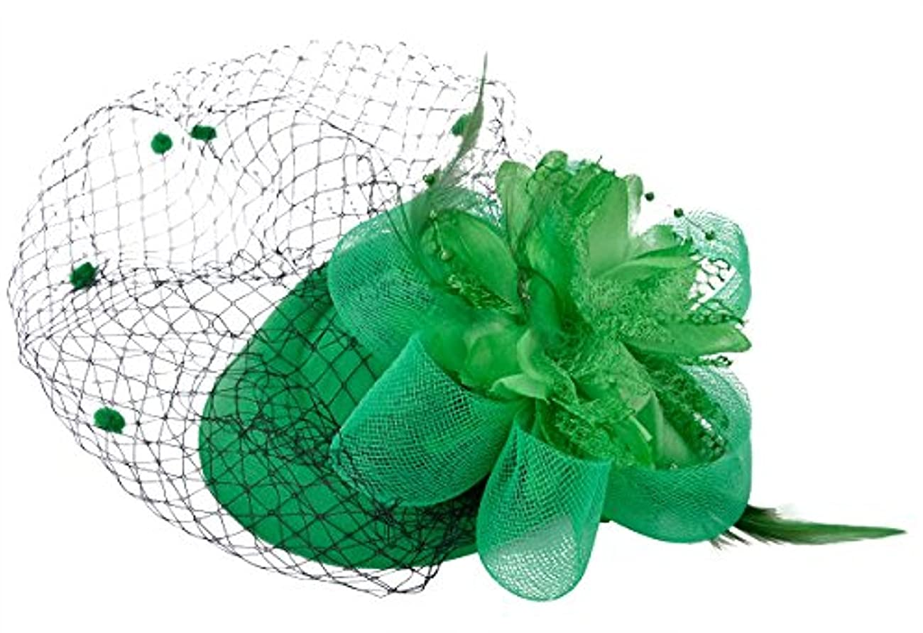 Fascinator Hair Clip Pillbox Hat Bowler Feather Flower Veil Wedding Party Hat 4