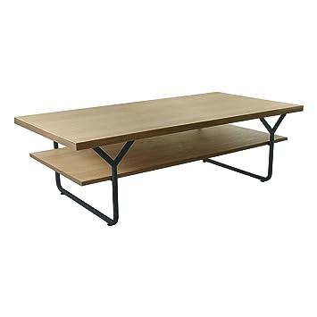 epsylon table basse en en acier et placage ch ne naturel naturel alinea. Black Bedroom Furniture Sets. Home Design Ideas