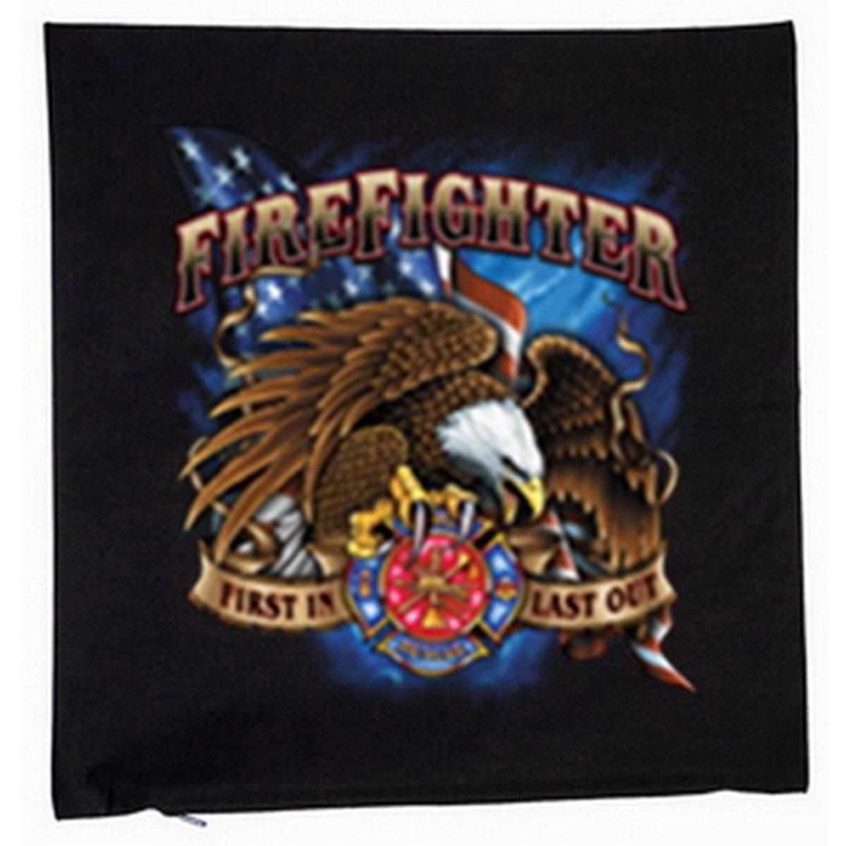 Feuerwehr Fire Fighter Deko Kissen mit Füllung Farbe: schwarz Größe: 40x40cm günstig