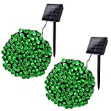 Joomer Solar String Lights 2 Pack 72ft 200 LED 8 Modes Solar Powered Christmas Lights Waterproof Decorative Fairy String Lights for Garden, Patio, Christmas Decoration (Green) (Color: Green, Tamaño: 2 Pack)