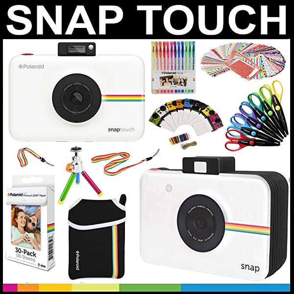 ac9c72d809 Polaroid Snap Touch Instant Camera Gift Bundle + ZINK Paper (30 Sheets) +  Snap ...