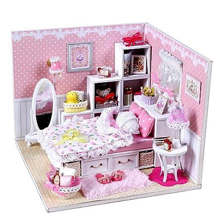 ROSENICE Maison de Poupée Miniature Bricolage Enfants Jouet Accueil Décoration