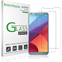 2-Pack amFilm Tempered Glass Screen Protector for LG G6