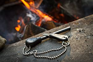 The Friendly Swede Magnesium Alloy Emergency Easy Grip Fire Starter (2 Pack) (2-Pack) (Color: 2-Pack)