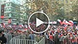 Chile Fans in Santiago Elated After 2-0 Win Over Spain