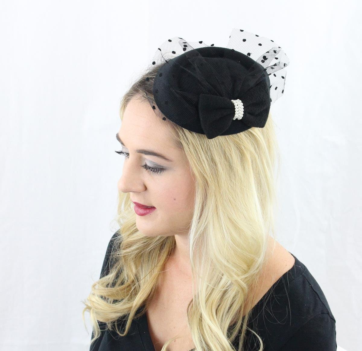 The Kate Pillbox Fascinator Hat with Hair Clip for Women 4