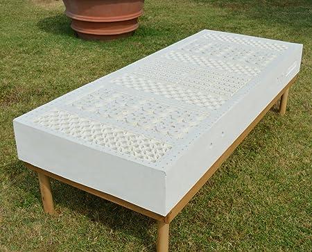 LATEX H22 Materasso H22 cm sfoderabile 100% Lattice 7 zone Tessuto Silver matrimoniale 160x200
