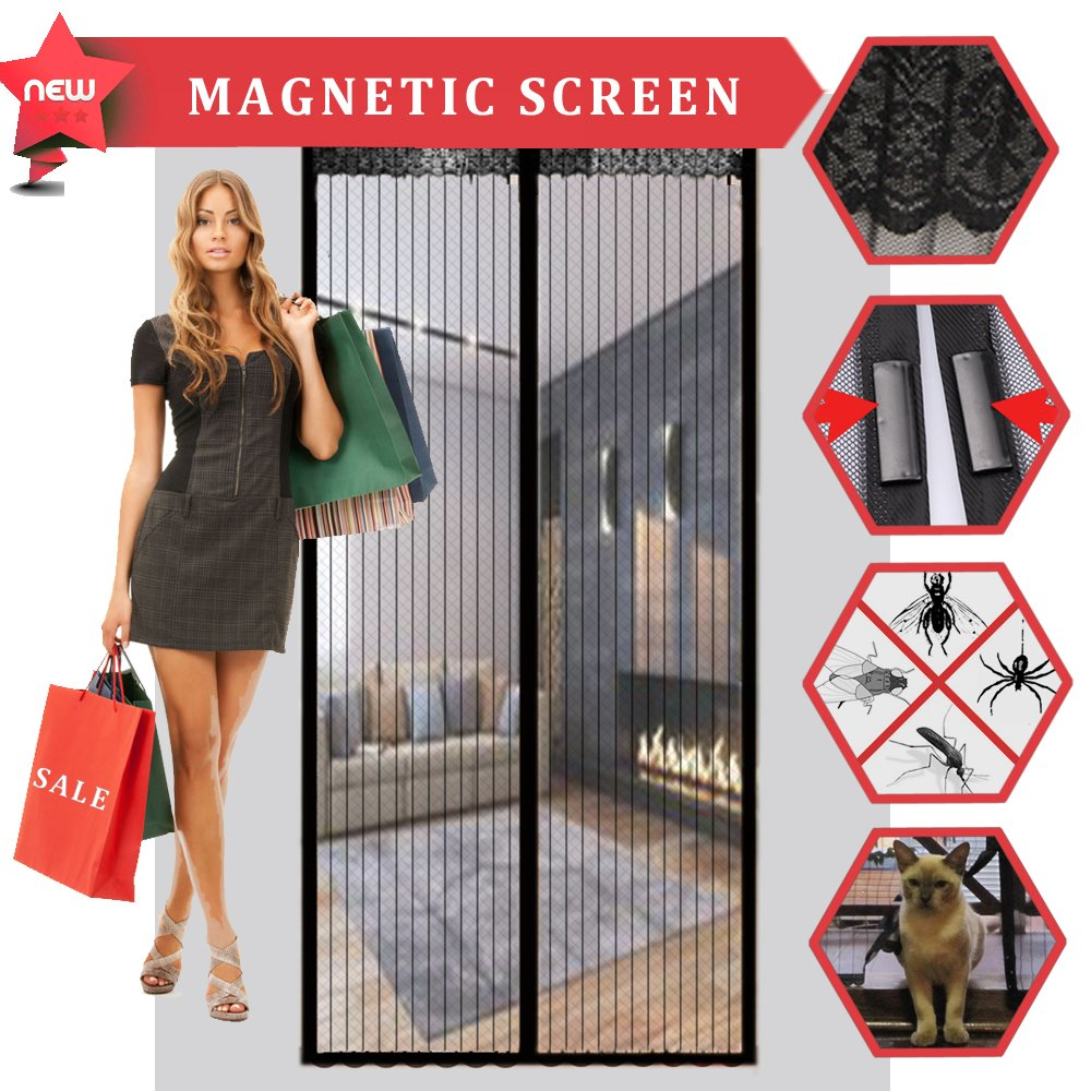 Magnetic Screen Door, CROPAL Premium Quality Heavy Duty Mesh Curtain-Fits Door Up to 36