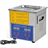 Jakan 2L Household Diy Ultrasonic Cleaner Jewellery Ultrasound Washer to Clean the Surface/Gap/Slit/Blind Hole of Mobile,Camera,Glass,Watch,Jewelry,Denture. (Color: Grey, Tamaño: 2L)