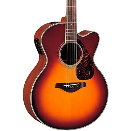 Yamaha Fjx720 Sc Jumbo Solid Top Acoustic Electric Guitar Mahogany, Brown Sunburst available at Amazon for Rs.70499