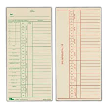 TOPS Weekly Time Cards, Green Ink Front, Red Ink Back, 3.38 x 7 Inch, 500-Count, Manila (1254)