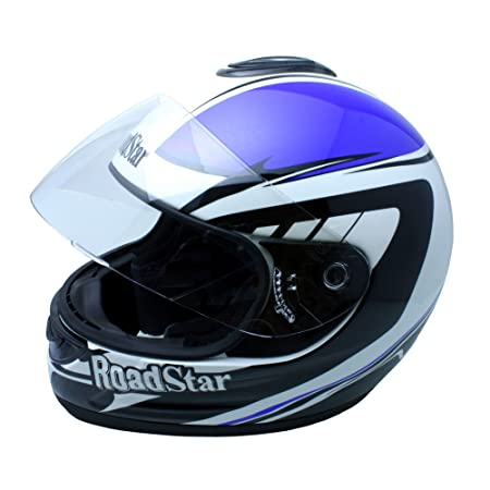 Roadstar 0.501.35 integral casque de moto bleu revolution