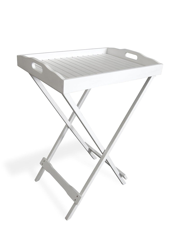 Belardo Tablett mit Untergestell, Weiß, 53 x 39 x 74 cm jetzt kaufen