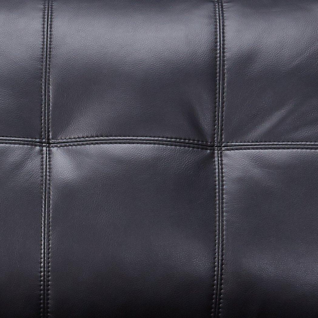 Samuel Leather Loveseat Black
