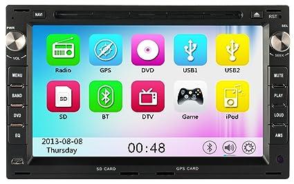 "mgnav mg2748m Autoradio VW (17,7cm (7"") rectangulaire Système de navigation multimédia (2DIN, DVD, BT, USB, SD, GPS)"