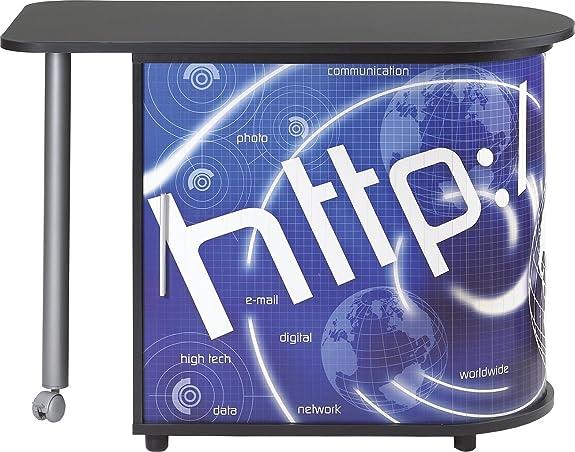 simmob cool100no800 HTTP 800 scrivania per computer con tenda con stampa legno nero girevole 55 x 105 x 74,7 cm US
