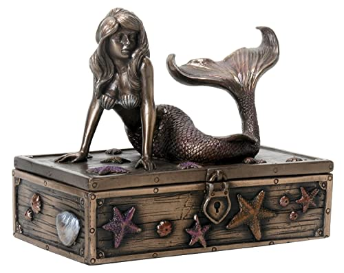 Bronz Jewelry Box Gift For People Who Love Mermaids