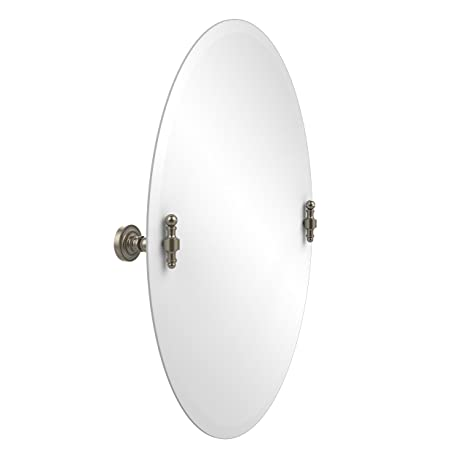 Allied Brass RD-91-PEW  21-Inchx29-Inch Oval Tilt Mirror, Antique Pewter