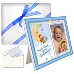 Baptism Christening Godparents Gifts With Love Boy Picture Frame Package
