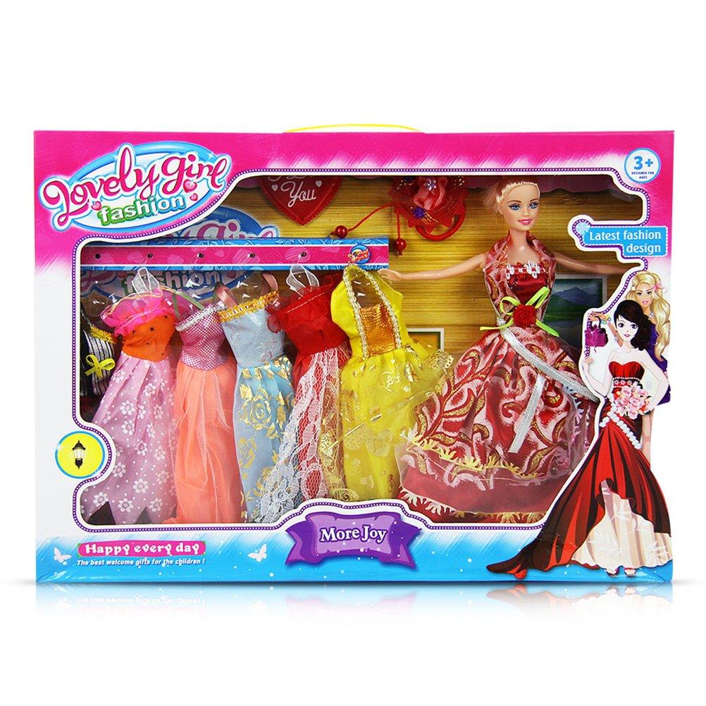 4 x Püppchen Puppe mit Kleidern Mädchen Mädchenpuppe Spielzeug Modepuppe Mode 29 cm online kaufen