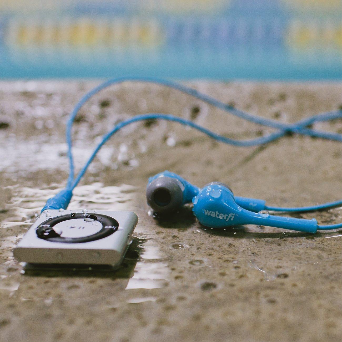 Waterfi waterproof apple ipod with Short Cord Waterproof HeadPhones - Best Swimming Mp3 Player