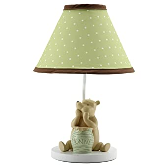 Disney My Friend Pooh Lamp and Shade Sage/Ivory