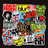 Band Stickers Pack Rock Roll Stickers Decals Laptop Cars Guitar Bumper Punk Classic Vinyl Waterproof Graffiti 100pcs (Color: Rock stickers, Tamaño: Mixed stickers)